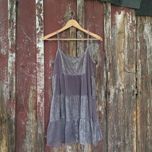 Free People Pieced Lace Slip